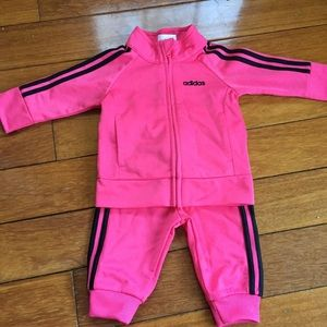NWOT baby girls adidas track suit